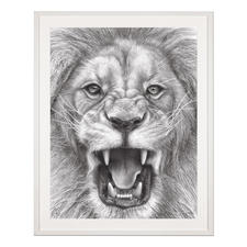 Koshi Takagi – The Lion King - Fotorealistische Bleistiftzeichnung. Mit über 1 Million handgemalten Strichen. Koshi Takagis zweite Edition seiner Raubkatzen-Serie. 90 Exemplare. Maße: 90 x 120 cm