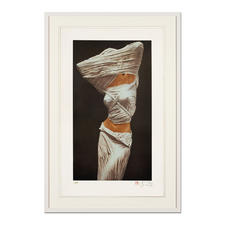 Willi Kissmer – Stehende in Form eines Ypsilons - Willi Kissmers handgefertigte Original-Heliogravüren auf 340-g-Kupferdruck-Büttenpapier. Maße: gerahmt 66 x 98 cm