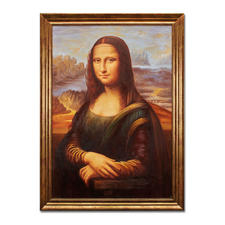 Hui Liu malt Leonardo da Vinci – Mona Lisa - Die perfekte Kunstkopie – 100 % von Hand in Öl gemalt. Maße: gerahmt 65 x 89 cm