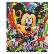 René Turrek – Mickey's World - René Turrek: Weltpremiere – exklusiv bei Pro-Idee. Erste Unikatediton des international gefeierten Graffiti-Künstlers. Handübersprüht. Maße: 100 x 120 cm