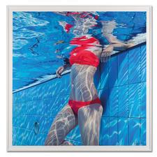 Jean-Pierre Kunkel – Pool No. 15 - Jean-Pierre Kunkel: Fotorealistische Malerei in höchster Präzision. Erste Edition – exklusiv bei Pro-Idee. 40 Exemplare. Maße: gerahmt 120 x 120 cm