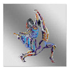 Paul La Poutré – Let´s do it - Paul La Poutré: Unikatserie –100 % von Hand auf Edelstahl  gemalt. 24 Exemplare. Exklusiv bei Pro-Idee. Maße: 100 x 100 cm