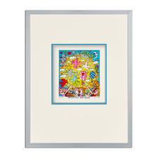 James Rizzi – Beautiful sun daze - 3D-Papierskulpturen des verstorbenen James Rizzi. 350 Exemplare. Maße: gerahmt 31 x 41 cm
