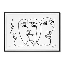 Andrés Ribón Troconis – Three minds are better than one - Andrés Ribón Troconis: Der Geheimtipp aus Südamerika. Erste Edition in Europa. Exklusiv bei Pro-Idee. 30 Exemplare. Maße: gerahmt 100 x 70 cm