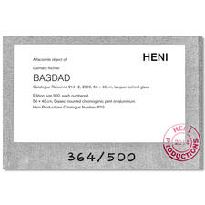 Echtheitszertifikat von HENI Editions auf der Rückseite.