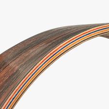 Jedes Werk besteht aus mehreren Schichten – Ahorn- und Ebenholz – die insgesamt 14 mm dick sind.