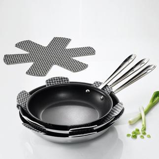 Stapelschutz, 9er-Set Endlich können Sie Ihre wertvollen Pfannen und Töpfe bedenkenlos stapeln. Schützt empfindliche Beschichtungen.