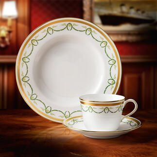Titanic-Collection Das Porzellan des First-Class-Restaurants der Titanic. Mit Monogramm und echtem 22-Karat-Goldrand.
