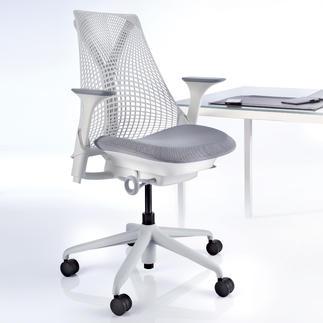 Bürostuhl SAYL Der Stuhl für nahezu grenzenlose Bewegungsfreiheit und optimale Körperhaltung. Von Herman Miller, USA.