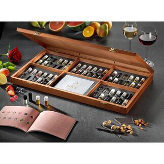 AROMABAR der Weindüfte Professionell ausgewählte Weinaromen trainieren Ihren Geruchssinn. Empfohlen von Sommelier Peter Steger.