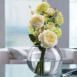 Variable Blumenvase Die Vier-Jahreszeiten-Vase: zaubert aus üppigen Sträußen und einzelnen Blumen immer ein schönes Gesteck.