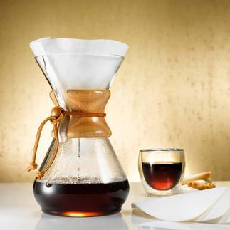 Chemex® Kaffee-Karaffe Kaffee-Kult 2013: Das Comeback des Handgebrühten. Prämiert als eines der 100 besten Designs der Neuzeit.