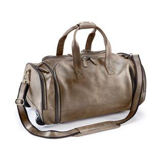 Bison Reisetrolley oder Reisetasche Unverwüstliches Bisonleder. Riesiger Stauraum. Bequem seitlich zu packen.