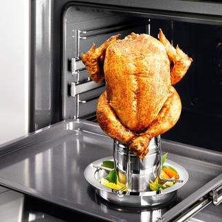 Hähnchen-Griller mit Aromaaufsatz Mit Aromaaufsatz: So gelingt Ihr knuspriges Geflügel noch saftiger, noch aromatischer.