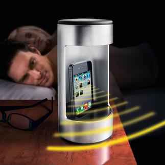 """Handystrahlen-Schutz """"Nightholder"""" Reduziert die Strahlenbelastung. Die offene Seite garantiert weiterhin ungestörten Empfang."""
