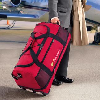 Ultraleichte XXL-Reisetasche Vergeuden Sie kein Freigewicht: Diese riesige Tasche wiegt weniger als 14 Gramm (!) je Liter Volumen.