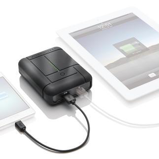 """Power-Akku """"Gum Max Duo™"""" Die Hochleistungs-Powerbank: doppelt so viel Ladestrom gegenüber vergleichbaren Geräten."""