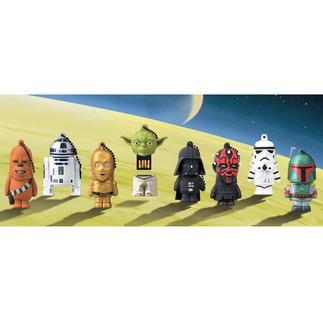 Star Wars USB-Stick, 8 GB Datenspeicher mit Kult-Charakter: 8 lizensierte Star Wars Originalfiguren mit USB-Stick.