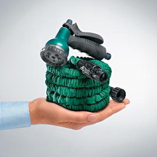 Auto-Expanderschlauch Der dehnbare Gartenschlauch: viel praktischer, platzsparender, bequemer zu handhaben.