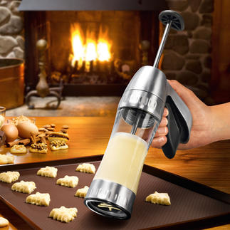 Kekspresse Cookie Pro™ Jetzt gelingen Spritz- und Biskuitgebäck schnell und einfach wie nie. Mit 16 Formschablonen (statt oft nur 6-10).