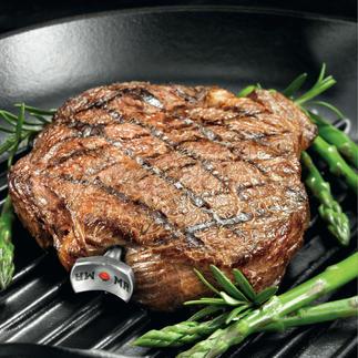 SteakChamp® 3-color Misst vollautomatisch die Kerntemperatur, berücksichtigt die Ruhephase & informiert über den gewünschten Gargrad.