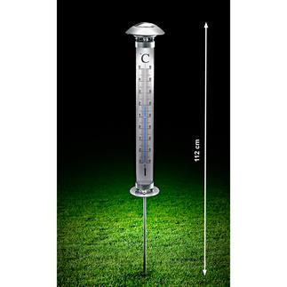 Solar-Gartenthermometer Dieses Thermometer lesen Sie auch im Dunkeln ab – sogar auf mehrere Meter Entfernung.