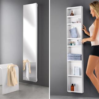 180°-Spiegelschrank Platzsparend. Drehbar. Mit viel verborgenem Stauraum. Der ideale Schrank für Bad, Flur, Ankleidezimmer, ...