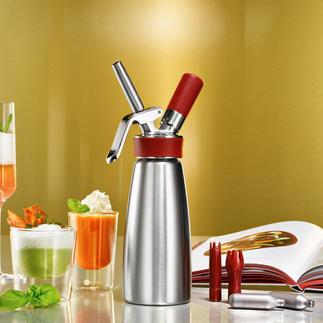 iSi Gourmet Whip Bei Spitzenköchen weltweit im Einsatz: der Espuma-Bereiter von iSi.