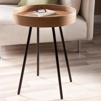 Tablett-Tisch Mobiler Beistelltisch & zugleich praktisches Serviertablett. Betont schlichtes Design,außergewöhnlich gemasert.