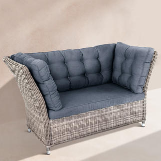 Polyrattan-Lounge-Möbel Mit extrahohen Rücken- und Seitenlehnen. Zum Hineinschmiegen schön. Aus wetterfestem Polyrattan.