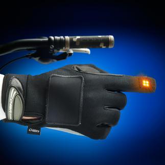 Blinker-Handschuh Mehr Sicherheit für Radfahrer: Der Blinker im Handschuh.