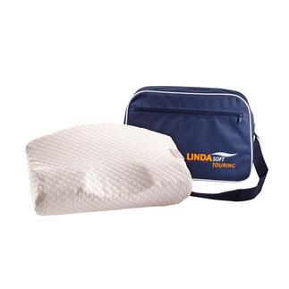 LINDAsoft Visco-Kissen oder Reisekissen Millionenfach bewährt – nochmals verbessert: Das visco-elastische Nackenstützkissen nach Dr. med. Linda Dixon.