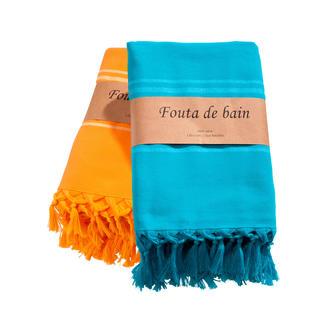 Fouta Entstammt Jahrhunderte alter Tradition. Aus weichem Baumwoll-Gewebe mit Abseite aus Feinfrottier.