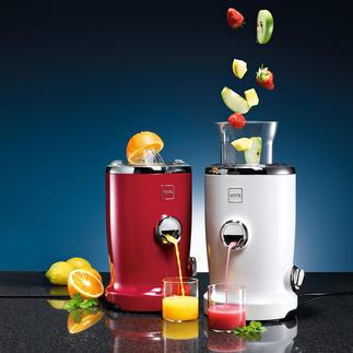 Vita Juicer Kombiniert Zitruspresse und Saftzentrifuge. Vergeudet keinen Tropfen, keine Vitamine.