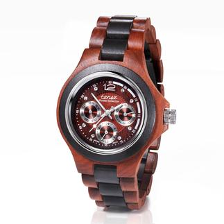 tense™ Holzarmbanduhr Edles Sandelholz, aufwändig von Hand gefertigt. Mit Uhrwerk aus Japan. Zum erfreulich günstigen Preis.