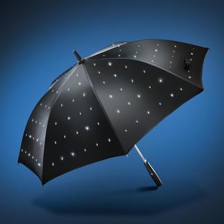 LED-Regenschirm Sternenhimmel 288 Lichtpunkte lassen den LED-Regenschirm romantisch erstrahlen.