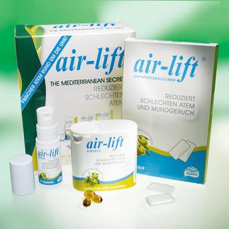 Air-Lift® Atemfrische-Set, 3-teilig Air-lift® bekämpft Mundgeruch statt ihn zu überdecken. US-patentierte Formel für frischen Atem.
