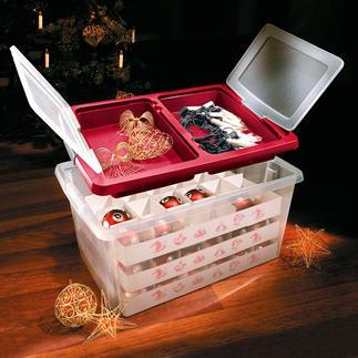 Maxi-Weihnachtsbox Die stoßfeste Maxibox schützt bis zu 72 Kugeln. Mit praktischem Staudeckel.