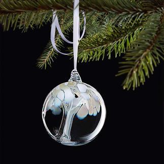 """Mundgeblasene Glaskugel Mit faszinierendem Innenleben. """"Tree of life"""", Symbol des Wachstums, der Stärke und des Lebens."""