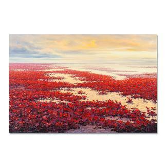 """Pei Lian Zhi: """"Spring"""" Einer der erfolgreichsten chinesischen Künstler: Pei Lian Zhi. Edition 100 % von Hand gefirnisst. 100 Exemplare."""