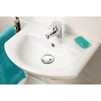 XL-Waschbeckenstöpsel Verschönert Ihr Waschbecken im Handumdrehen. 6,2 cm Ø – verdeckt den unattraktiven Ablaufbereich.