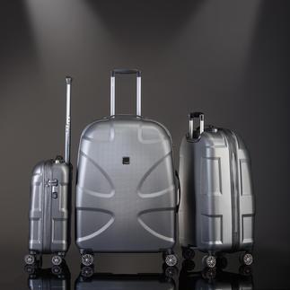 Titan Sharkskin-Trolley 100 % MAKROLON® Polycarbonat mit Sharkskin-Oberfläche. Leicht, dabei extrem schlag- und kratzfest. Von TITAN®, Hamburg.