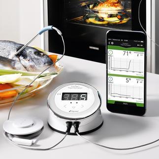 Bluetooth® Smart Küchenthermometer Auf Ihrem Smartphone haben Sie die Bratentemperatur im Blick.