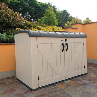 Großraum-Mülltonnenbox Der elegante Platz für 3 große Mülltonnen. Oder Fahrräder, Gartengeräte, Poolzubehör, ...