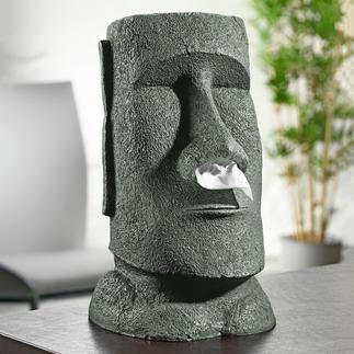 Papiertuchspender Moai Faszinierend wie die Steinkolosse der Osterinsel. Viel schöner als die üblichen Boxen.