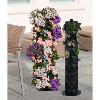 Kunststoff-Pflanzsäule Spektakuläre Blumenpracht auf kleinem Raum. Freistehende 92-cm-Säule mit 32 Pflanzöffnungen.