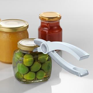 Glaskonserven-Öffner Ganz leicht öffnen Sie jetzt jede Glaskonserve. Und der Deckel bleibt intakt und kann wieder verwendet werden.