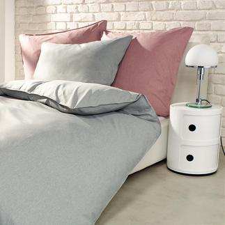 Leinenlook Mikrofaser-Bettwäsche Seidig glatt und weich. Guter Feuchtigkeitstransport. Formbeständig und bügelfrei.