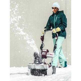 Akku-Schneefräse oder Akku-Handschneefräse Leicht und handlich wie ein Elektromäher - ohne lästiges Kabel. Kraftschonender und schneller als mit der Schneeschaufel.