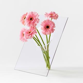 Tischvase Außergewöhnliches Design: Die glasklare, handgefertigte Vase hebt die Blüten effektvoll hervor.